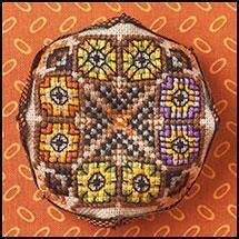 Tiny Owls Biscornu - Cross Stitch Pattern