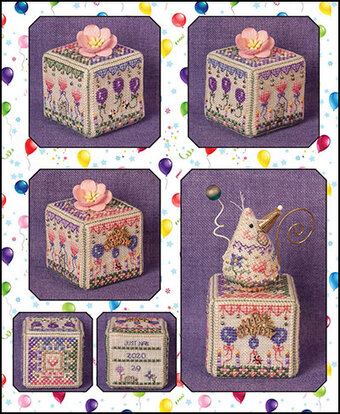 Birthday Garden Cube - Cross Stitch Pattern