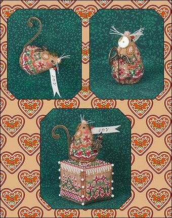 Gingerbread Angel Mouse Limited Edition Cross Stitch Pattern
