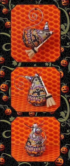 Miss Witchy Mouse Limited Edition Cross Stitch Pattern