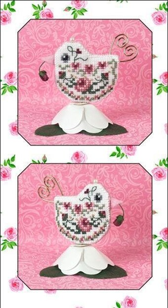 Rosebud Tweet - Cross Stitch Pattern