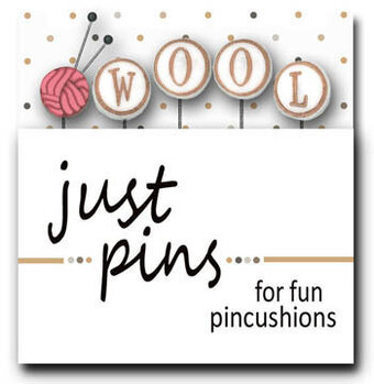 Block Party - W is For Wool  (Set of 5) -  Just Pins