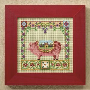 Percy Pig - Cross Stitch Kit