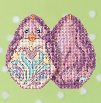 Purple Chick - Jim Shore - Cross Stitch Kit