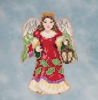 Angel with Lantern - Jim Shore Beaded Cross Stitch Kit