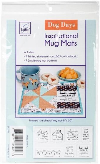 Dog Days - June Tailor Inspirational Mug Mats Quilt Kit