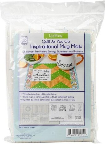 Uplifting - Quilt As You Go Inspirational Mug Mats Kit
