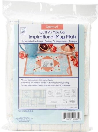 Spiritual - Quilt As You Go Inspirational Mug Mats Kit