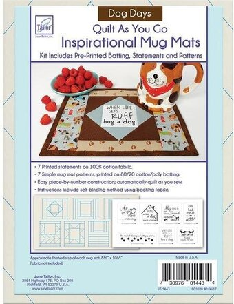Dog Days - Quilt As You Go Inspirational Mug Mats Kit