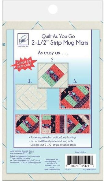 Strip Mug Mats - Quilt As You Go Mug Mats Kit