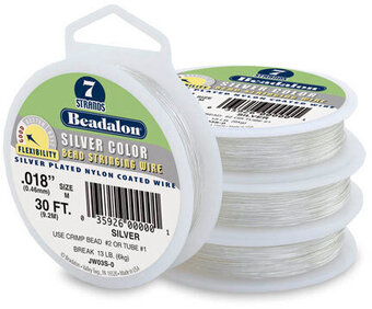 Beadalon Wire - 7 Strand - Silver Clear - .015 inches