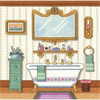 janlynn victorian bath cross stitch kit 006 0100