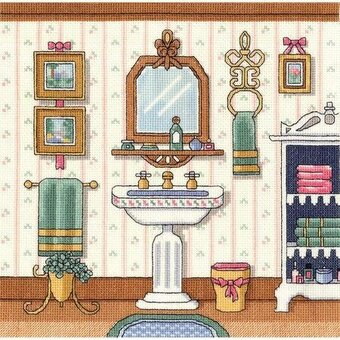 Victorian Sink - Cross Stitch Kit