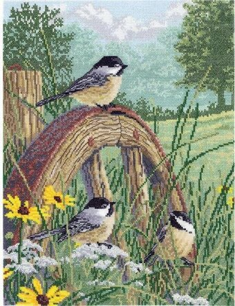 "Janlynn Embroidery Kit 3/""X4/"" Set of 3-Winter Birds-Stitched In Floss"