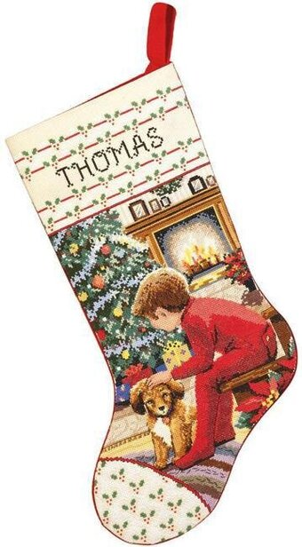 Waiting for Santa Stocking - Cross Stitch Kit