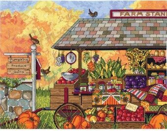 Buck's County Farm Stand - Cross Stitch Kit