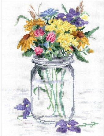 Wildflower Jar - Cross Stitch Kit