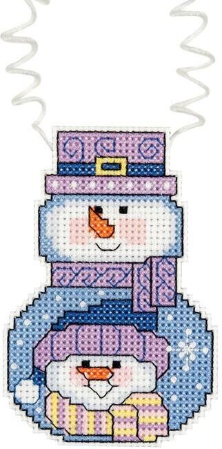 Holiday Wizzers  Snowman with Scarf - Cross Stitch Kit