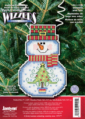 Holiday Wizzers Snowman With Tree - Cross Stitch Kit