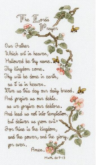 The Lord's Prayer - Cross Stitch Kit