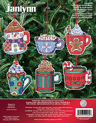 Christmas Cocoa Mugs - Cross Stitch Kit