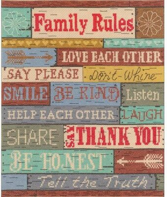 Family Rules - Cross Stitch Kit