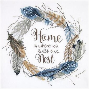Build Our Nest - Stamped Cross Stitch Kit