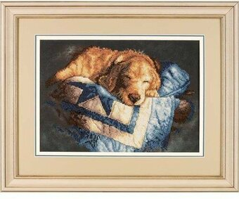 Snooze - Stamped Cross Stitch Kit