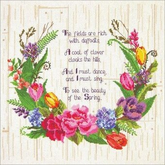 Spring Sentiments - Cross Stitch Kit