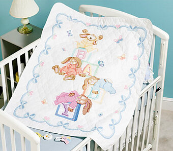Sleepy Bunnies Quilt - Stamped Cross Stitch Kit
