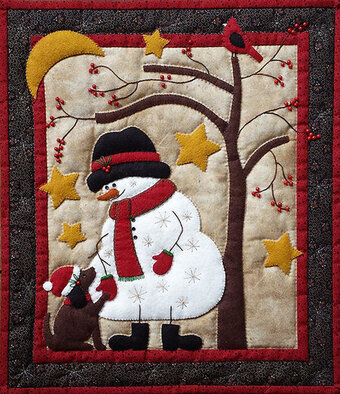 Frosty and Friend Wall Quilt Kit