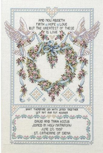 Wedding Doves - Cross Stitch Kit