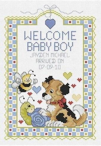 Welcome Baby Boy - Cross Stitch Kit