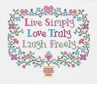 live love laugh cross stitch pattern