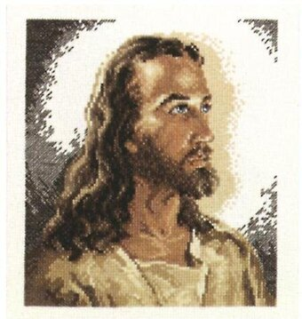 Portrait of Christ - Cross Stitch Kit
