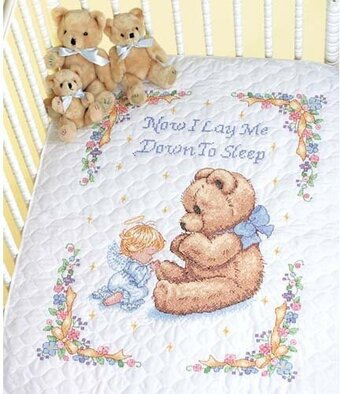 Dimensions Sweet Prayer Quilt Stamped Cross Stitch Kit