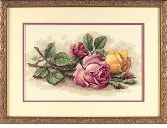 Rose Cuttings - Cross Stitch Kit