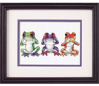 Jiffy Treefrog Trio Mini Counted Cross Stitch Kit