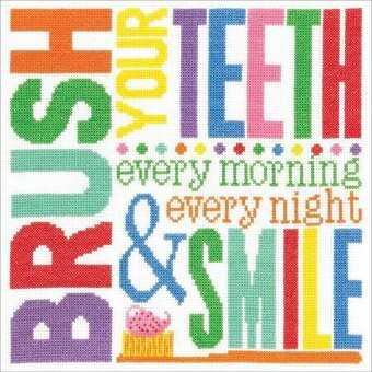 Brush Your Teeth - Cross Stitch Kit