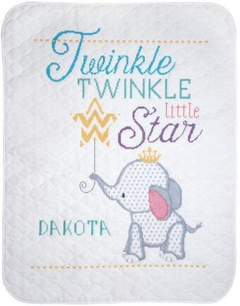 Twinkle Twinkle Little Star Quilt - Stamped Cross Stitch Kit