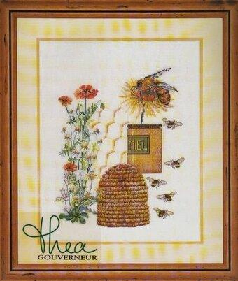 Bee Hive (linen) - Cross Stitch Kit