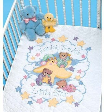 Dimensions Little Pond Baby Quilt Stamped Cross Stitch