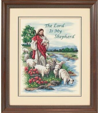 Lord is My Shepherd - Stamped Cross Stitch Kit