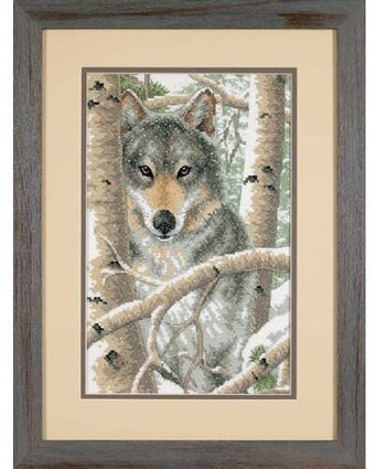 Wintry Wolf - Stamped Cross Stitch Kit