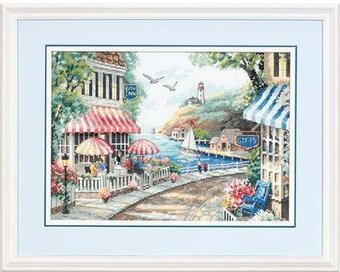 Cafe by the Sea - Cross Stitch Kit
