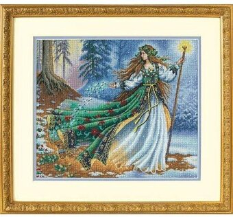 Woodland Winter Dimensions Gold Collection Counted Cross Stitch Kit 10 x 18 18 Count White Aida