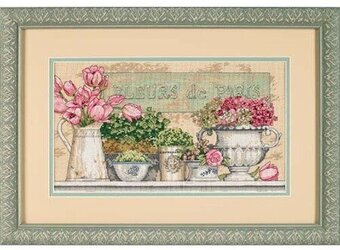 Flowers of Paris - Cross Stitch Kit