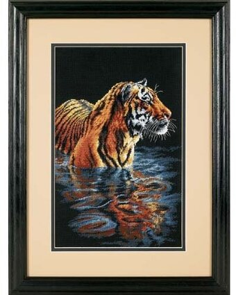 Tiger Chilling Out - Cross Stitch Kit