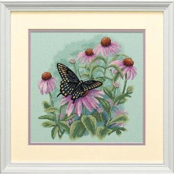 Butterfly & Daisies - Cross Stitch Kit