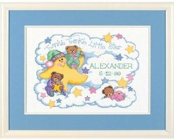 Twinkle Twinkle Birth Record - Cross Stitch Kit